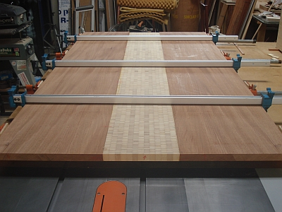 The Mahogany Planks Are 74 Inches Long And 16 Wide Plyboo Piece In Center Is 72 10 I Ll Trim Four Off